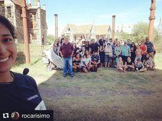 #Repost @rocarisimo ・・・ Primer grupo del día!😁 . . .#campanopolis #visitasguiadas #medieval #likeforlike #crew #team #sunny #saturday