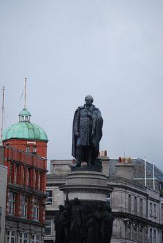 O'Connell of the O'Connell Street Bridge, Dublin, Ireland...