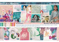 This Season's Deep Sea Princess Trend for Girls is such a cute trend. Sea creatures and mermaids play a huge part, with scales and pearls and plenty of shells creating a decorative and attractive theme that entices little girls! Fashion Themes, Kids Fashion, Ss15 Trends, Kids Graphics, Undersea World, Mermaid Crown, Princess Style, Princess Fashion, Fancy Nancy