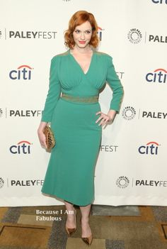 Fabulously Spotted: Christina Hendricks Wearing L'Wren Scott - 2014 PaleyFest 'Mad Men' - http://www.becauseiamfabulous.com/2014/03/christina-hendricks-wearing-lwren-scott-2014-paleyfest-mad-men/