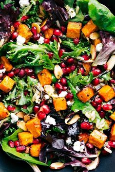 The BEST roasted sweet potato and wild rice salad
