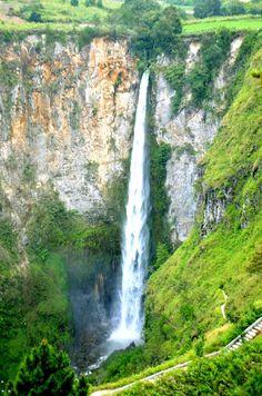 Sipiso-Piso Waterfall , North Sumatra, Indonesia