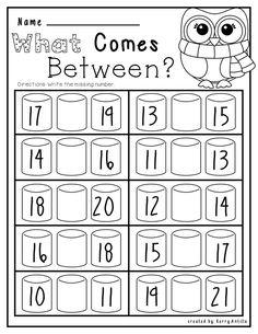 Kindergarten No Prep Winter Math and Literacy Kindergarten Prep Preschool Math Math Classroom Free Kindergarten Worksheets, Kindergarten Readiness, Homeschool Kindergarten, Elementary Math, Teaching Math, Free Preschool, Maths, Math Literacy, Math Math