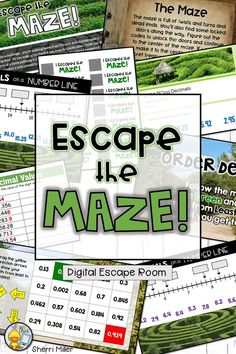 Distance Learning: Decimals Digital Escape Room - Escape the Maze! Computer Lessons, Technology Lessons, Computer Lab, Library Lessons, Math Lessons, Math Skills, Teaching Decimals, 4th Grade Classroom, Elementary Math
