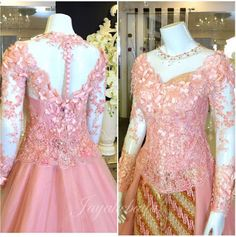 Wedding kebaya modern dress pink 2016