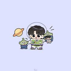 V Chibi, Cute Anime Chibi, Kawaii Anime, Taehyung Fanart, Got7 Fanart, Bts Anime, Cute Drawlings, Dibujos Cute, Bts Drawings
