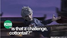 "288 ""Is that a challenge, cottontail?"" #littlerotgthings #rotg #riseoftheguardians"
