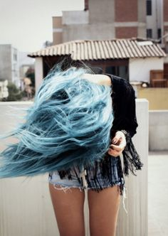 Hair hair Hair I want my hair like this blue hair Dye My Hair, Your Hair, Pastel Blue Hair, Colorful Hair, Twisted Hair, Coloured Hair, Rainbow Hair, Crazy Hair, Looks Cool