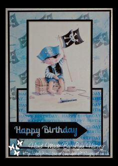 Delphinoid's Cards and Craft: A5 Size Card - Little Pirate
