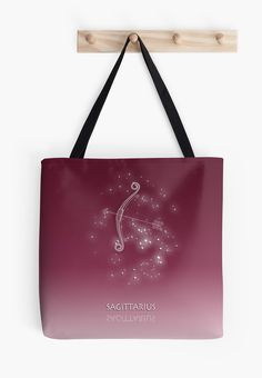 Sagittarius Zodiac constellation - Starry sky by chartofthemoment.com. Zodiac gifts available as iPhone case/skin/wallet, iPad case/skin, Laptop skin/sleeve, throw pillow cover,tote bag,mug,travel mug,drawstring bag,T-shirt,hoodie,sweatshirt,tank top and more on RedBubble.