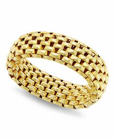 Giani Bernini 24k Gold over Sterling Silver Ring, Mesh Stretch Ring