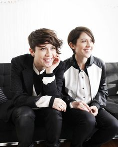 Tegan and Sara in Spin Magazine. Photo by Brian Sorg