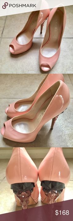 """Casadei Light Pink Peep Toe Casadei light pink platform. 37/7. Heel size 5.5"""" Worn 2x and in a great condition! With Shoe Bag/No Box Casadei Shoes Heels"""