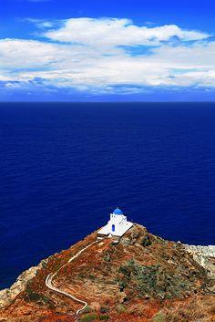 el azul del mar Egeo