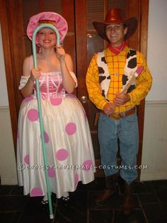 G-Rated Adult Couple Costume: Woody and Bo Peep...