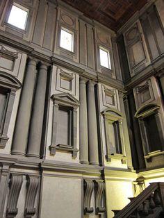Michaelangelo, Laurentian Library and Vestibule, Florence Voyage Florence, Florence Tours, Florence Italy, Architecture Design, Classical Architecture, Amazing Architecture, Italian Renaissance, Renaissance Art, Renaissance