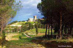 Populonia ein mittelalterliches Dorf über der Bucht von Baratti.