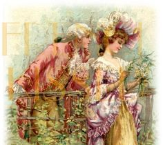 Instant Download 18th Century Couple French by FrenchKissed, $3.99