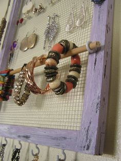 Handmade Jewelry Holder- Picture Frame