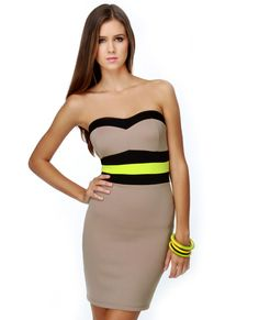 gET YOUR NE-ON DRES $34.50 AT LULUS.COM I LOVE HOW THE NEON YELLOW/GREEN STANDS OUT