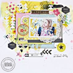 Christin Gronnslett for Pink Paislee using Hey Kid and Sentiments series for Inspiring Backgrounds week.