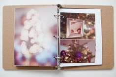 Liz's December Daily 2011 - LOVE the doily/kraft combo and the simple clean photo collages!