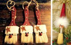 More Than 10 Primitive Christmas Ornaments Diy Primitive Weihnachtsschmuck Diy - Bilmece Rustic Christmas Ornaments, Christmas Holidays, Ornaments Ideas, Primitive Christmas Decorating, Snowman Ornaments, Christmas Decorations Diy Cheap, Santa Decorations, Diy Snowman, Handmade Decorations