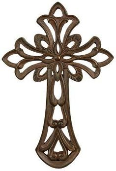 #Floral Scroll Motif Wall #Cross. #homedecor #gifts