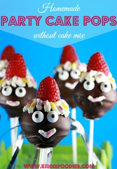 Party pops - homemade cake pops recipe without cake mix