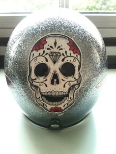 Custom Helmet Skull Paint Job