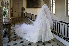 Vestido feito por Yves saint Laurent bordado por Lessage para Maria Pia Marcondes Ferraz