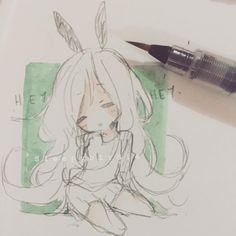 Hey, hi, hey look, hey, hi. Hey, hi, hey! Look at the sky! I'm not going anywhere Kawaii Drawings, Cartoon Drawings, Cute Drawings, Anime Kunst, Anime Art, Art Folder, Anime Sketch, Copics, Art Sketches