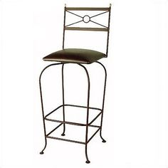 "Grace Classico 30"" Bar Stool Upholstery: Shells, Base Finish: Aged Iron"