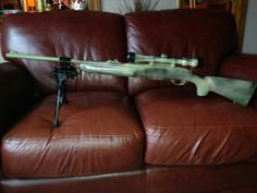 Dressed up remington 7400 30:06 with some camo. Added front barrel mount bipod