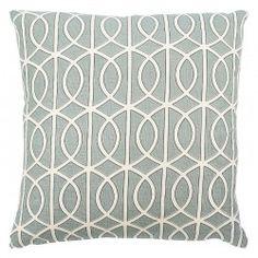 Light Blue with White swirls throw pillow.
