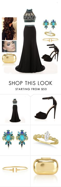 """""""One Dress, Two Parts"""" by teodoramaria98 ❤ liked on Polyvore featuring Topshop, VICKISARGE, Allurez, Tiffany & Co. and Coast"""