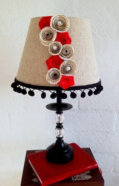 Book Page Roses Lampshade by CleverMakings on Etsy, €32.00