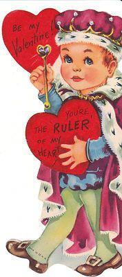 Vintage Valentine Card Little Boy King in Crown Die Cut for Child Prince | eBay