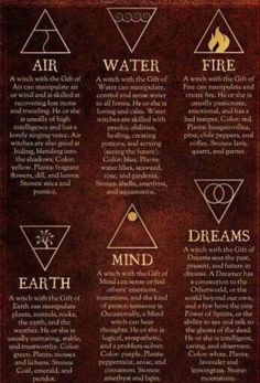 The six different gifts of a witch, you can embody more than just one.