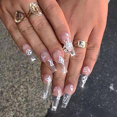 Acrylic nail designs 632755816383305158 - – Acrylic Nails Coffin – Source by Clear Acrylic Nails, Summer Acrylic Nails, Summer Nails, Acrylic Nail Designs Coffin, Coffin Acrylic Nails Long, Coffin Acrylics, Long Nail Designs, Art Designs, Clear Nail Designs