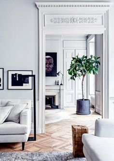 Pierre Emmanuel Martin and Stéphane Garotin home in Lyon, France | #hometour #interior #white #vintage