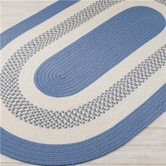 Oval Variegated Braided Rug 3 Colors