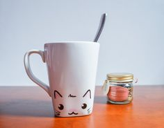 Cat Mug Kitty Mug Cat Lover Mug Crazy Cat Lady by PigmentandHugh