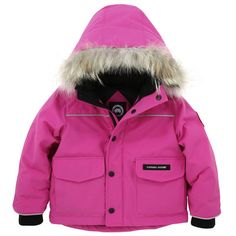 Canada Goose Lynx Parka. Pink down coat with removable hood