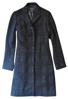 Burberry Black Plaid Wool Jacket / Coat www.fullcirclefashion.com