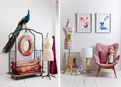 Featherston chair and a Cockatoo lamp
