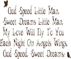 God Speed Sweet Dreams Wall Decals