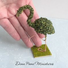 doll topiary | Flamingo Topiary Bush Sculpture Dollhouse Miniature Garden Flowers ...