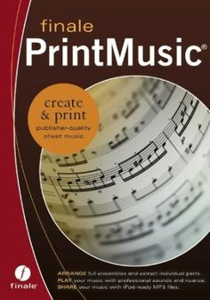 Finale PrintMusic 2011 Englisch Notation software