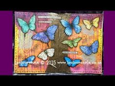 Tissue paper used for tree and border: Journaling Butterflies. - YouTube
